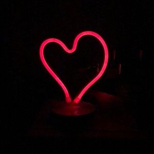 Red Neon Heart Marquis Light